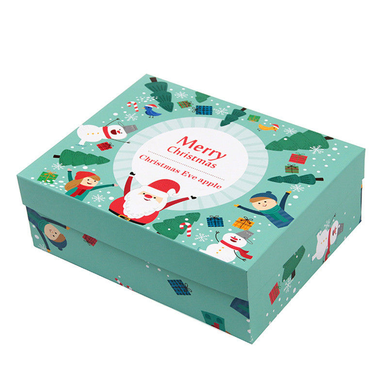 CMYK Printing Christmas Packaging Boxes Christmas Gift Boxes With Lids Tray