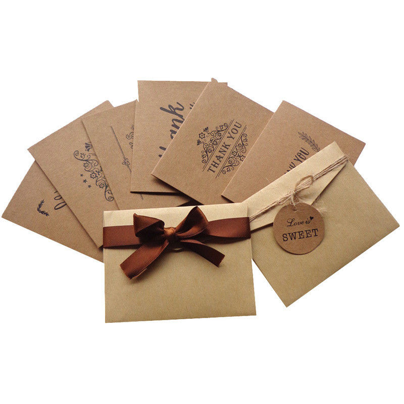 Finer Packaging Custom Card Printing Kraft Paper Materials Gifts Cards