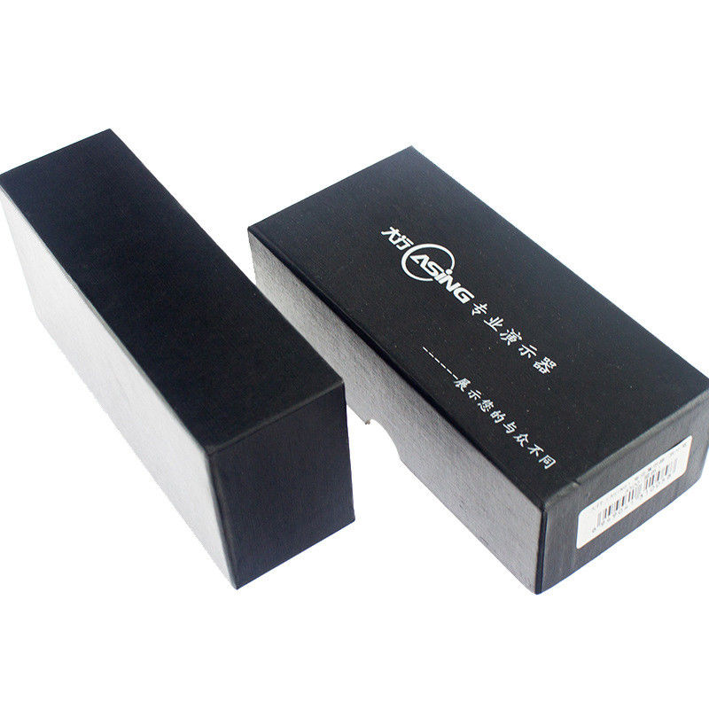 Laser Pointer Presenter Glossy Black Gift Boxes Custom Product Boxes