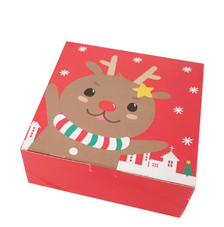 Custom printed Christmas Cardboard Boxes Recycled Paper Folding Gift Box