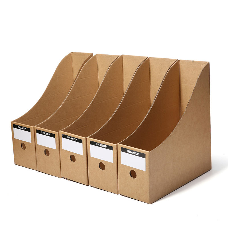 Kraft Paper File Box Paper Packaging Box OEM Logo Printing CMYK Display