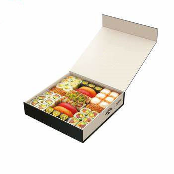 Food Sushi Packaging Box High Quality Customized Logo Printing